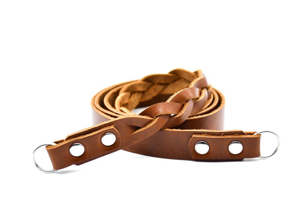 Semi Braided Leather Strap 2cm 5