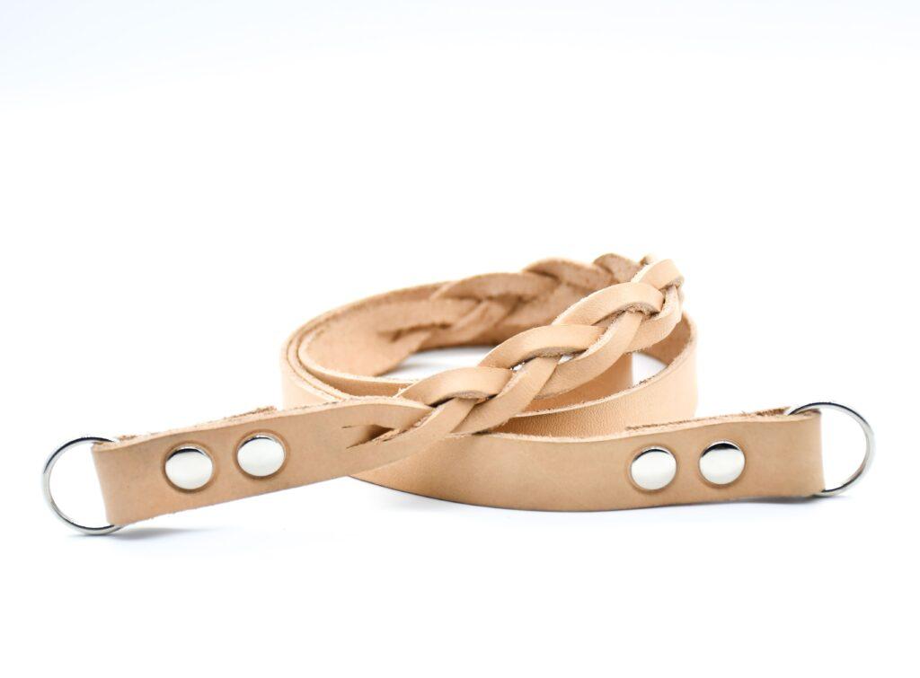 Semi Braided Leather Strap 1,5cm 5