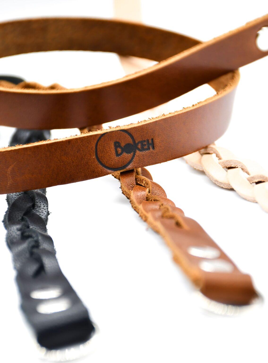 Semi Braided Leather Strap 1,5cm 7