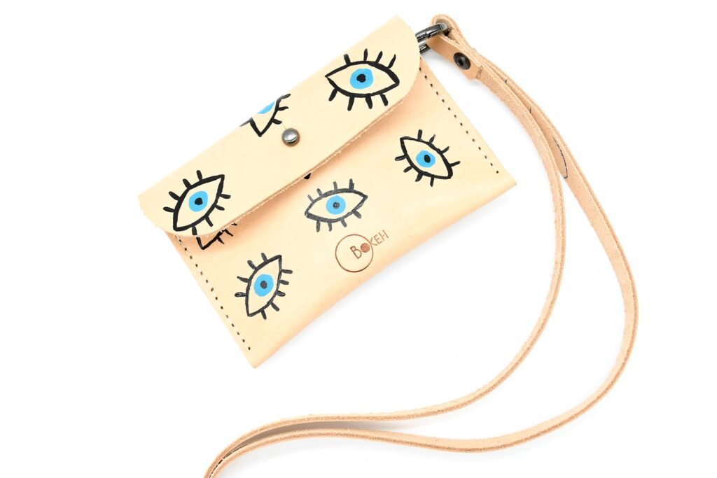 Evil eye neck wallet 1