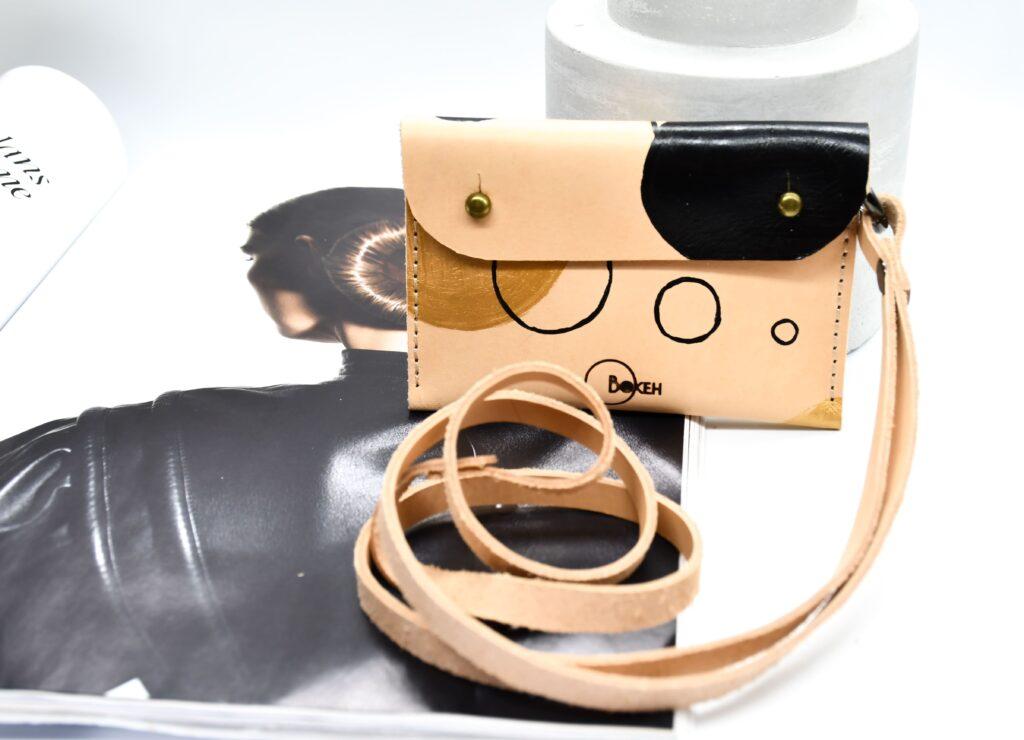 Shapes-gold/black neck wallet 5