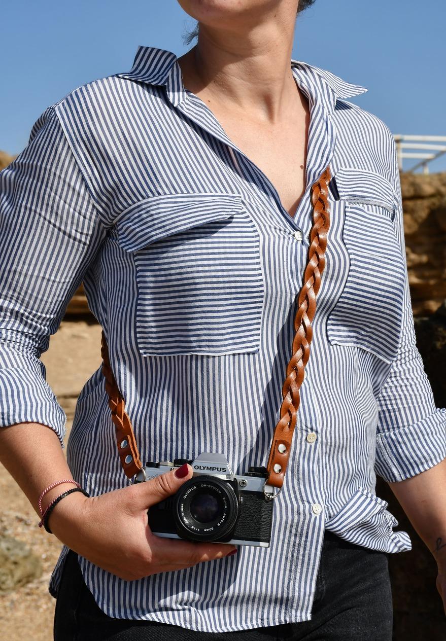 Full Braided Leather Camera Strap for dslr 9