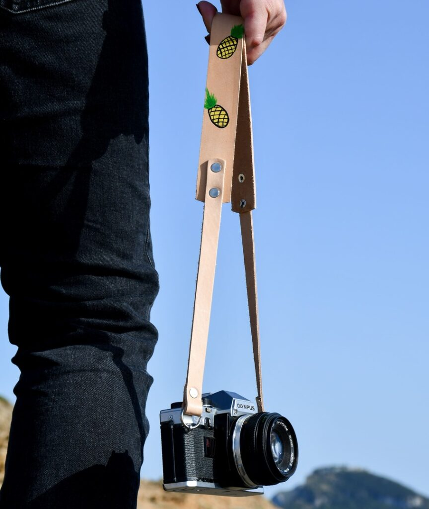 Pineapple Leather Camera Strap for DSLR 3