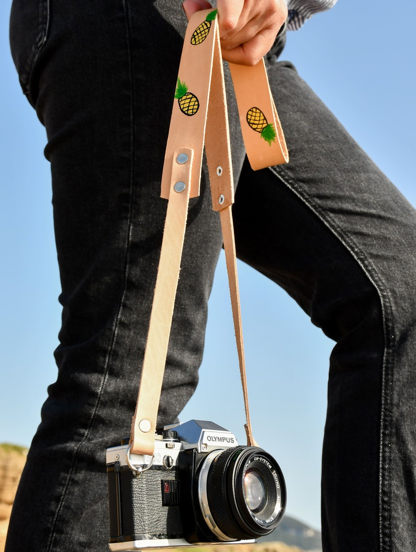 Pineapple Leather Camera Strap for DSLR 2