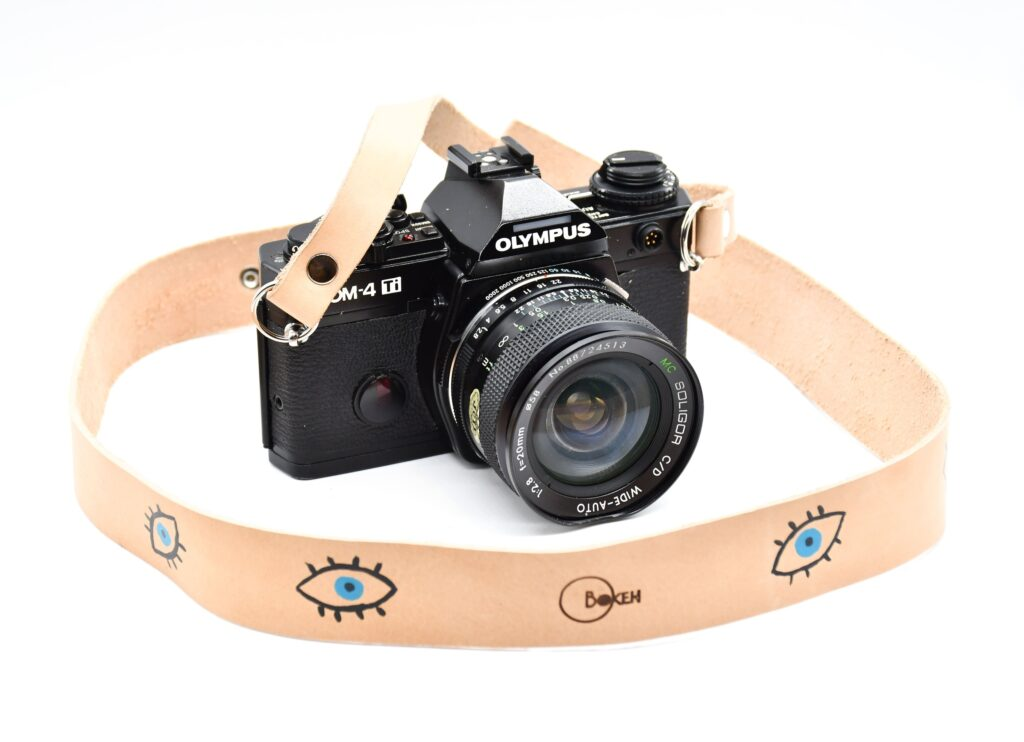 Evil eye Leather Camera Strap for DSLR 1