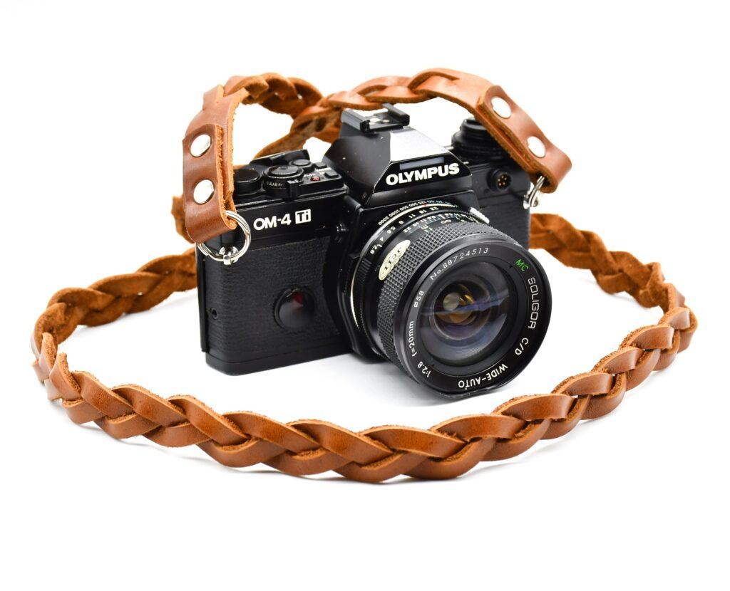 Full Braided Leather Camera Strap for dslr 1