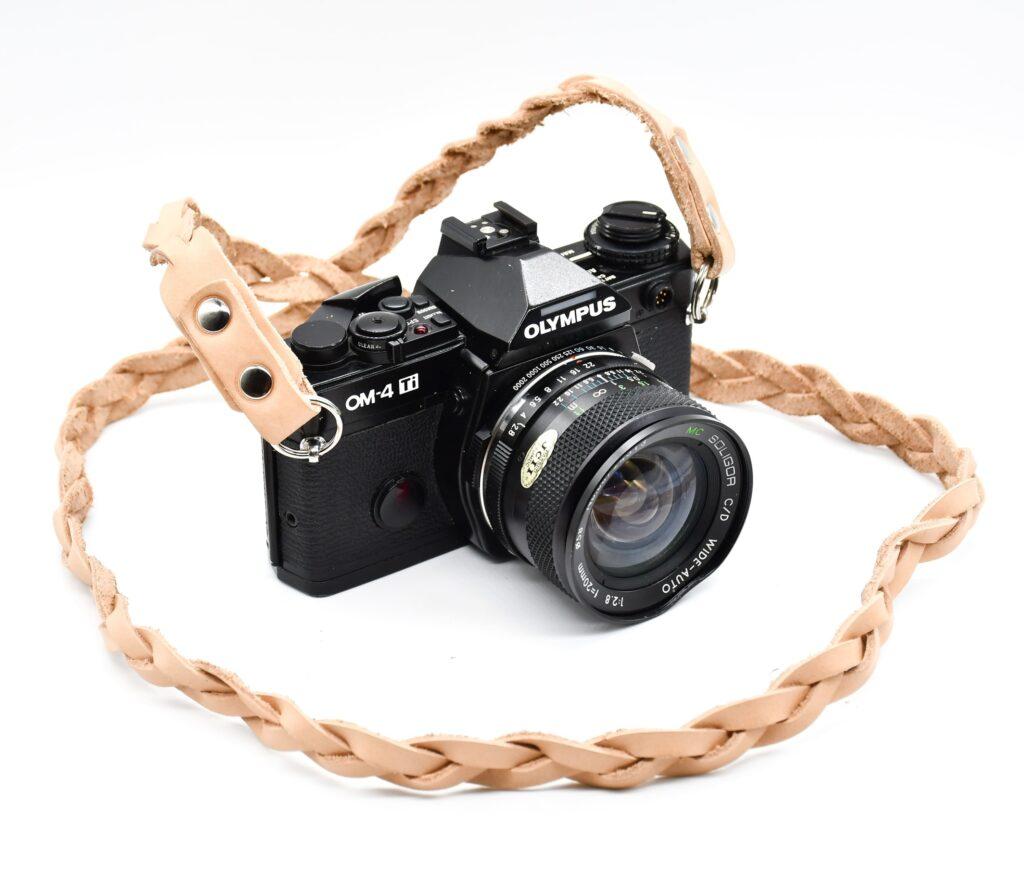 Full Braided Leather Camera Strap for dslr 2