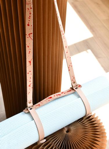 Leather Yoga Mat strap 1