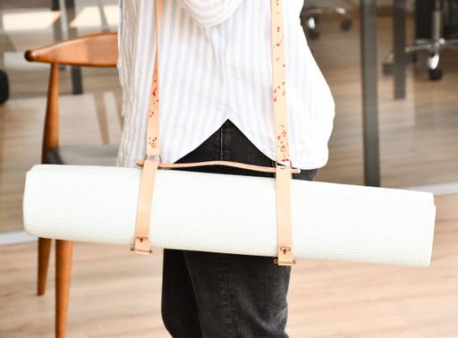 Leather Yoga Mat strap 4